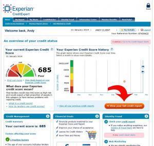 credit expert summary screen