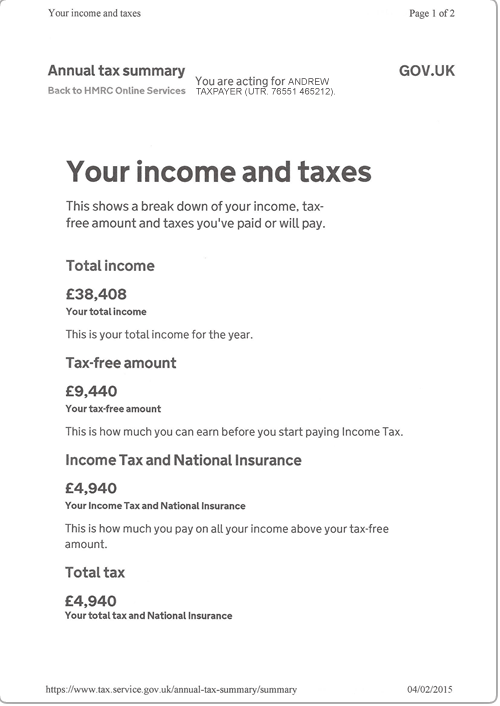 SA302 HMRC income tax summary example_V3